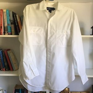 Crisp Beautiful White Ralph Lauren Shirt